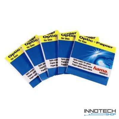 Hama szilikonmentes optikai tisztító papír 5x30 db (5915)