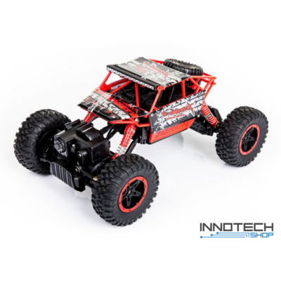 NQD 1:18 Rock Crawler Buggy 4WD 20km/h 27cm RC távirányítós sziklamászó off road játék autó 2.4GHz - piros