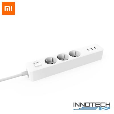 Xiaomi Mi Power Strip túlterhelés védett hosszabbító hálózati elosztó + 3 x USB gyorstöltő 1,4 m XMCXB04QM fehér (XMMIPS)