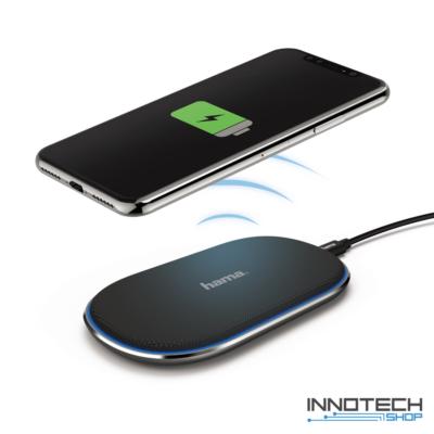 Hama QI Fabric vezeték nélküli indukciós mobil telefon töltő 2A (183344)