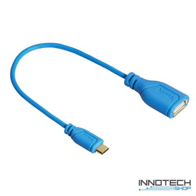 Hama micro usb - otg adapter adat kábel - kék (135705)