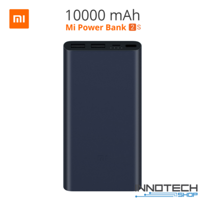 Xiaomi Mi Power bank 2S 10000 mAh QuickCharge 2.0 fekete PLM09ZM (2 S, külső akkumulátor, gyorstöltő, vésztöltő, powerbank)