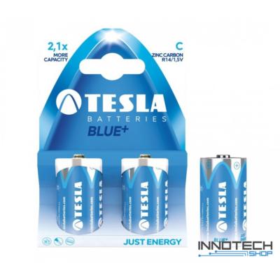 Tesla Batteries Blue+ C féltartós baby elem (Blue, baby, R14 bébi, 1,5 V) - 2 db / csomag