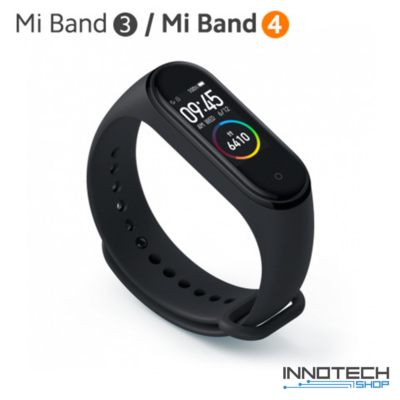 Xiaomi Mi Band 3/4 pót pánt - FEKETE