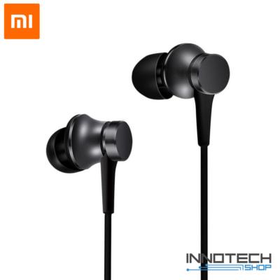 Xiaomi Mi In-Ear BASIC - vezetékes sztereó fülhallgató headset (HSEJ03JY) - fekete (XMMIAHPBSCB)