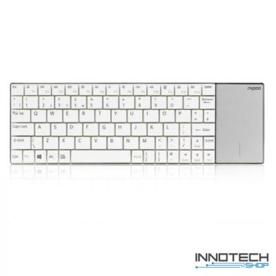Rapoo E2710 vezeték nélküli billentyűzet + touchpad - fehér (157234)