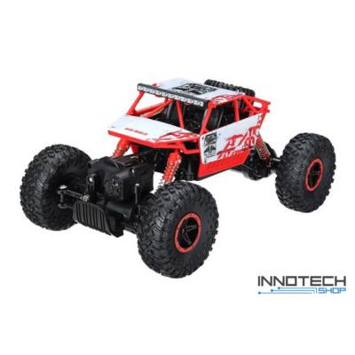 Rock Crawler HB-P1801 Buggy 4WD 10km/h sebességű 1:18 28cm RC távirányítós autó (magyar útmutatóval Off Road 10 km/h) - piros