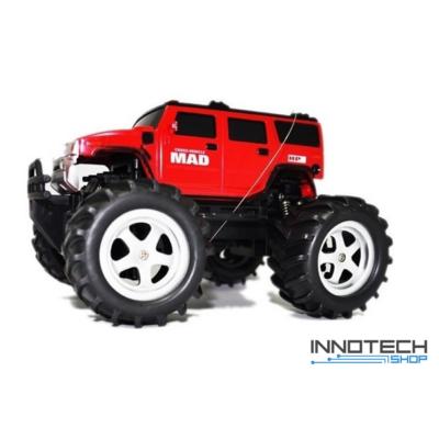 NQD Mad Monster Truck Off Road távirányítós autó 2WD 15km/h sebességű 1:16 21,5cm RC (15 km/h játék autó) - piros