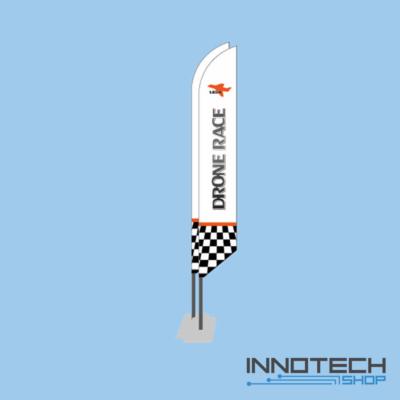 Profi FPV drón verseny pálya zászló szett (2 db) hordtáskával - fehér