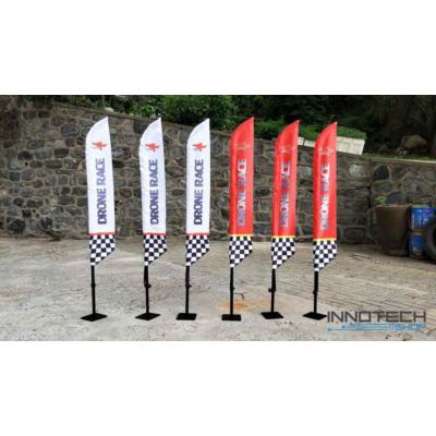 Profi FPV drón verseny pálya zászló szett (2 db) hordtáskával - narancs