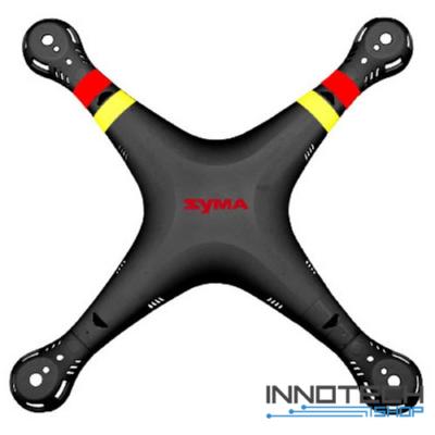Syma X8 alsó - felső drón ház (fekete alsó - felső drón váz burkolat test)