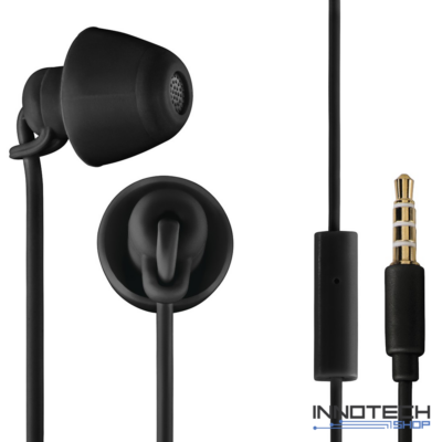 Thomson EAR 3008 BK IN-EAR piccolino fülhallgató és mikrofon headset - fekete (132632)