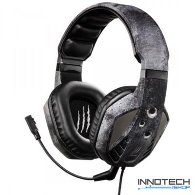 Hama URAGE SOUNDZ EVO pc gaming fejhallgató és mikrofon headset - szürke - fekete (gamer) (113737)