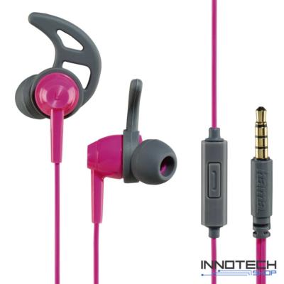 Hama Reflective Sport fülhallgató headset - szürke-pink (177022)