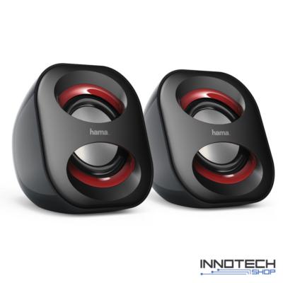 Hama Sonic Mobile 183 USB 3.0 2.0 multimédia sztereó hangszóró sztereó aktív hangfal (173131)