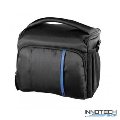 Hama Nashville 140 fotós táska 23x11x17,5 cm fekete - kék (121869 fotóstáska)