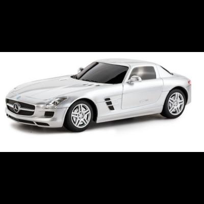 Mercedes-Benz SLS AMG 1:24 19,3cm távirányítós modell autó Rastar 40100 RTR modellautó - ezüst