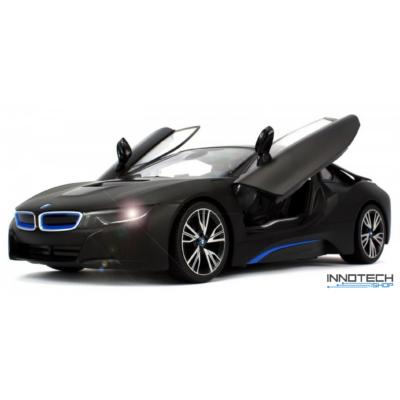 BMW i8 1:14 33,5cm távirányítós modell autó Rastar 71000 RTR modellautó - fekete