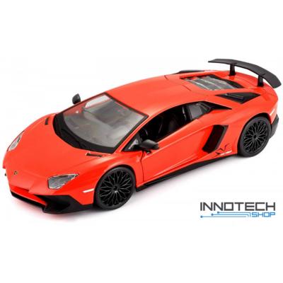 Lamborghini Aventador SVJ 1:24 18cm távirányítós modell autó Rastar 46300 RTR modellautó - narancs