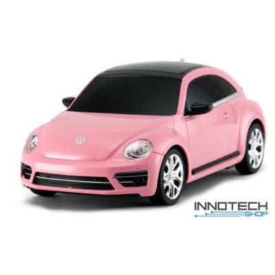 Volkswagen Beetle 1:24 17,5cm távirányítós modell autó Rastar 76200 RTR modellautó - rózsaszín