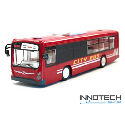 Távirányítós piros játék busz 33 cm x 8 cm x 8,8 cm Double Eagle E635-003-RED RTR EE Double E