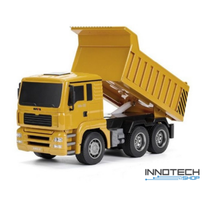 Távirányítós dömper 28cm 1:18 távirányítós RC játék billenőplatós teherautó munkagép Huina Toys 1332 RTR 2.4GHz