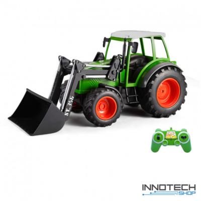 Távirányítós óriás traktor homlokrakodóval 41 cm 1:16 RC játék homlokrakodó traktor munkagép Double Eagle E356-003 RTR EE Double E 2.4GHz