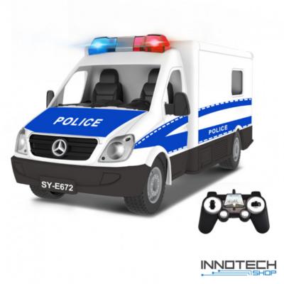 Távirányítós rendőrautó 33 cm 1:18 RC játék rendőrautó Double Eagle E672-003 RTR EE Double E 2.4 GHz