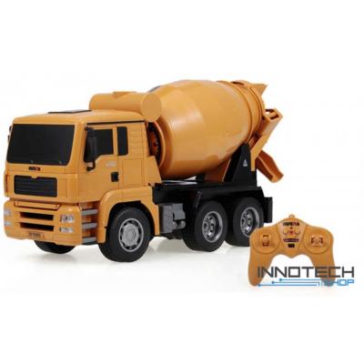 Távirányítós betonkeverő teherautó 31.5cm 1:18 RC játék munkagép Huina Toys 1333 RTR 2.4GHz