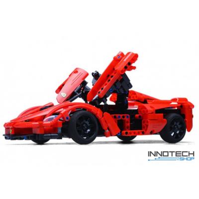 Double Eagle kirakós távirányítós sport autó (380 db, 31,5 cm) RC sportautó versenyautó építőkocka játék szett EE Double E CaDa (C51009W) (lego technic kompatibilis)
