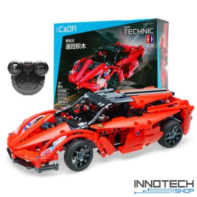 Double Eagle távirányítós építőkészlet játék szett sport autó (380 db, 31,5 cm) RC sportautó versenyautó EE Double E CaDa (C51009W) (lego technic kompatibilis)