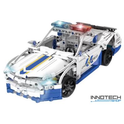 Double Eagle kirakós távirányítós rendőrautó (430 db, 31,7 cm) RC sport autó versenyautó építőkocka játék szett EE Double E CaDa (C51006W) (lego technic kompatibilis)