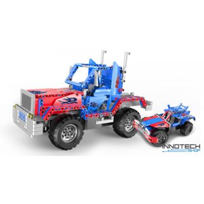 Double Eagle kirakós távirányítós kamion és autó (531 db, 37.0 cm 2.4GHz) RC optimus prime kamion munkagép és versenyautó építőkocka játék szett EE Double E CaDa (C51002W) (lego technic kompatibilis)