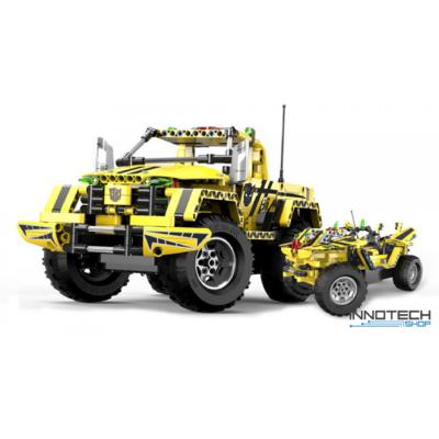 Double Eagle kirakós távirányítós 2in1 sport pickup / teher autó (514 db, 35.8 cm 2.4GHz) RC bumblebee sportautó versenyautó építőkocka játék szett EE Double E CaDa (C51003W) (lego technic kompatibilis)