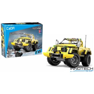 Double Eagle távirányítós építőkészlet játék szett RC 2in1 sport pickup / teher autó (514 db, 35.8 cm 2.4GHz) RC bumblebee sportautó versenyautó EE Double E CaDa (C51003W) (lego technic kompatibilis)