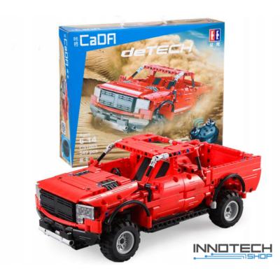 Double Eagle távirányítós építőkészlet játék szett RC terepjáró pickup autó (549 db, 32.8 cm 2.4GHz) EE Double E CaDa (C51005W) (lego technic kompatibilis)