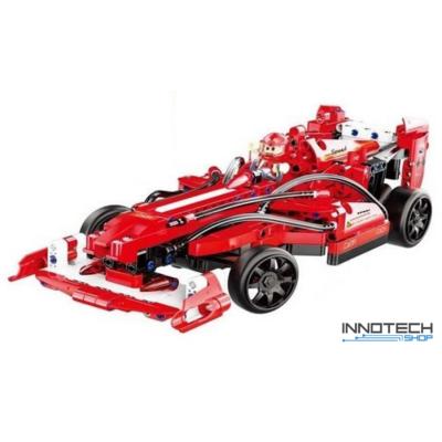 Double Eagle kirakós távirányítós forma 1 sport autó (317 db, 32.0 cm 2.4GHz) RC formula 1 sportautó versenyautó építőkocka játék szett EE Double E CaDa (C51010W) (lego technic kompatibilis)