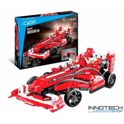 Double Eagle távirányítós építőkészlet játék szett forma 1 sport autó (317 db, 32.0 cm 2.4GHz) RC formula 1 sportautó versenyautó EE Double E CaDa (C51010W) (lego technic kompatibilis)