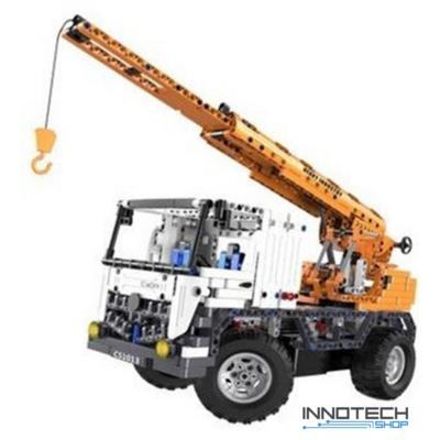 Double Eagle kirakós távirányítós emelőkaros teherautó (838 db, 39.0 cm 2.4GHz) RC darus rakodó autó munkagép építőkocka játék szett EE Double E CaDa (C51013W) (lego technic kompatibilis)