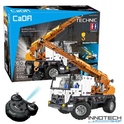 Double Eagle távirányítós építőkészlet játék szett emelőkaros teherautó (838 db, 39.0 cm 2.4GHz) RC darus rakodó autó munkagép EE Double E CaDa (C51013W) (lego technic kompatibilis)