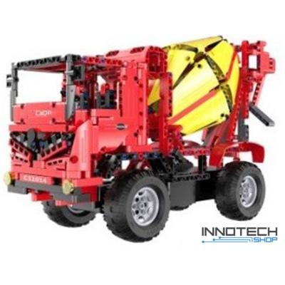 Double Eagle kirakós távirányítós betonkeverő teherautó (814 db, 41.0 cm 2.4GHz) RC munkagép építőkocka játék szett EE Double E CaDa (C51014W) (lego technic kompatibilis)