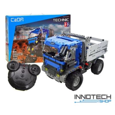 Double Eagle távirányítós építőkészlet játék szett billenőplatós RC kamion (638 db, 35,0 cm 2.4GHz) teherautó munkagép EE Double E CaDa (C51017W) (lego technic kompatibilis)
