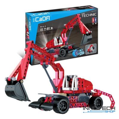 Double Eagle építőkészlet játék szett hátrahúzós excavator markoló munkagép (235 db, 26.0 cm) kotrógép EE Double E CaDa (C52012W) (lego technic kompatibilis)