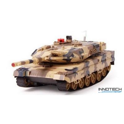UF 516 német Leopard 1:18 (36cm) távirányítós játék infra tank harckocsi (tankcsata életerővel RC RTR UniFun 516) - sivatagi terepszínű
