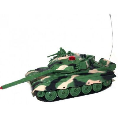 Zegan 1:32 (22,3 cm) távirányítós játék infra tank harckocsi (tankcsata   életerővel, ZG / 33803) - zöld (magyar nyelvű útmutatóval)