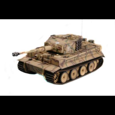 UF 808 German Tiger I 1:16 (50cm) távirányítós óriás játék tank harckocsi (RC RTR UniFun német tigris I) - sivatagi terepszínű