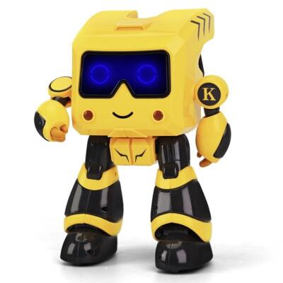 JJRC R17 TOTO RC intelligens távirányítós játék robot 25.5cm interaktív programozható okosrobot - sárga
