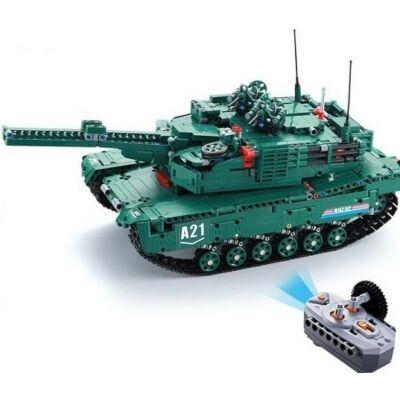 Double Eagle profi távirányítós építőkészlet játék szett (1498 db 46 cm) 2 féle játék tank egyben EE Double E CaDa C61001W