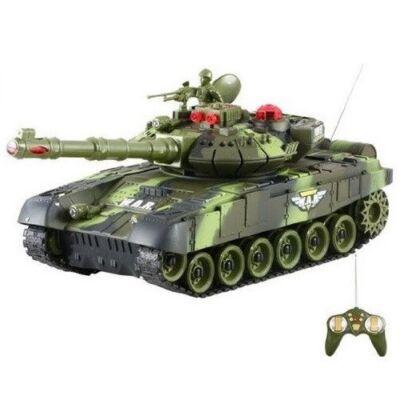 BT T90 orosz T-90 2.4GHz 1:24 31cm távirányítós játék infra csata tank harckocsi (tankcsata életerővel RC RTR Brother Toys No. 9993) - zöld terepszínű