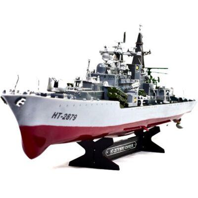 HT-2879 Sowriemiennyj óriás 78cm orosz távirányítós katonai csatahajó 1:275 2879B hadi hajó 2.4GHz RTR háborús csatahajó HT 2879